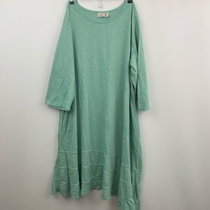 Logo Lori Goldstein mint green tunic sz-3X